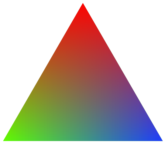 triangle colorful triangles art - photo #32
