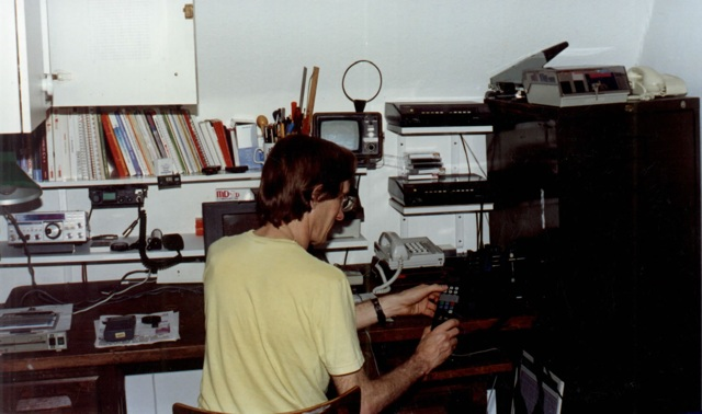 Tim Jenkin at his Workstation in London